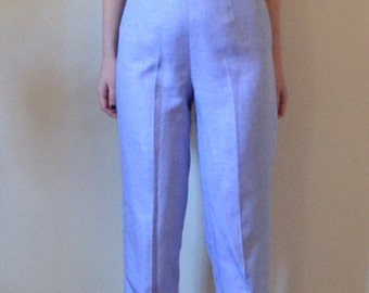Pastel lilac trouser pleated pants