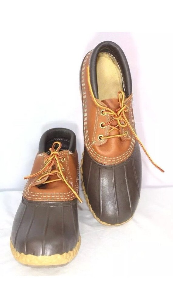 Popular LL Bean Duck Boots Vintage Tall Dark Brown Leather Unisex
