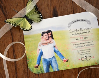 Digital DIY Save the Date - Double Heart