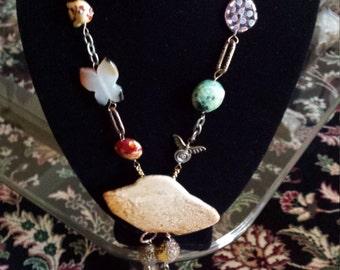 one strand jasper bolo necklace
