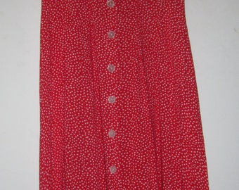 Great polka dot maxi dress button up, collar, 80s, Elaine-style 11/12
