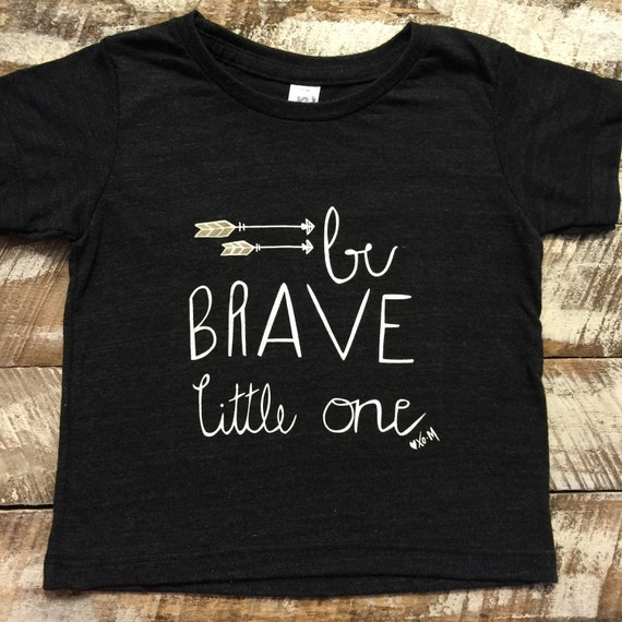 Be brave little one baby shirts tee shirt baby clothes by for Single order custom t shirts