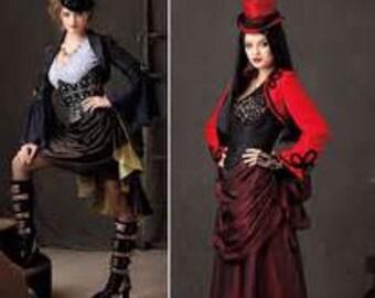 Simplicity Pattern 1819 Steam Punk Bustle corset jacket skirt pattern Sizes 6-12 & 14-22