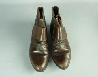 Vintage Italian Brown Leather Ankle Boots