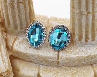 Little elegant Swarovski crystal earrings