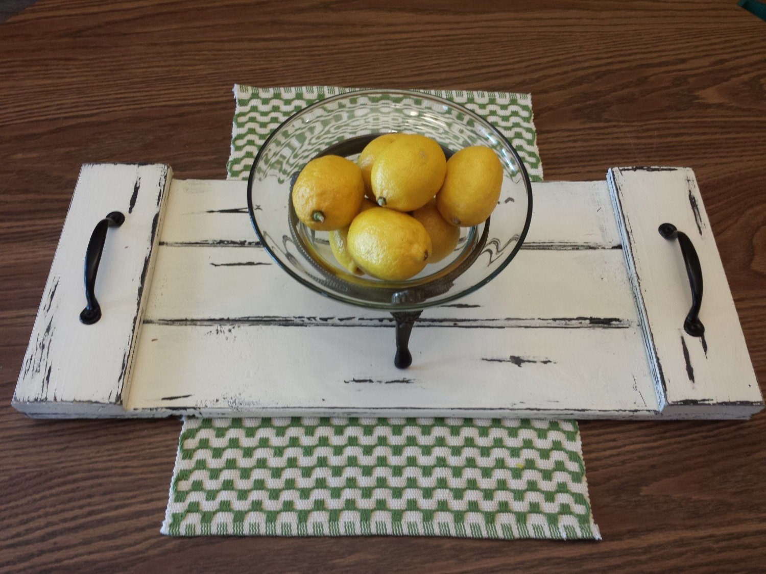 Rustic coffee table tray decorative farmhouse by recycledtrees Decorative trays for coffee tables