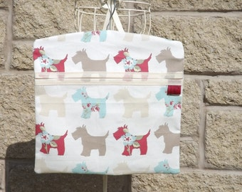 Fun and Funky Peg Bag - Scotties