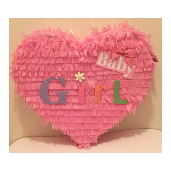 baby girl baby shower heart pinata by theperfectpinata on etsy