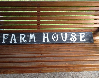 Rustic handmade wooden farmhouse sign, primitive,reclaimed wood,kitchen decor,distressed sign