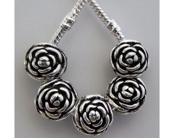 Roses European Style Charm for all European Charm Bracelets