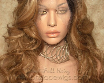 Dark Root Body curl lace front wig Flawless Lace wig lace front wig Nicki Minaj wig Kim Kardashian lace front wig drag queen lace