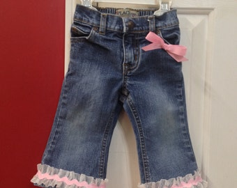 Baby ruffle jeans