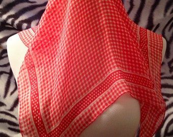Red and white gingham and polka dot  Laura Ashley scarf