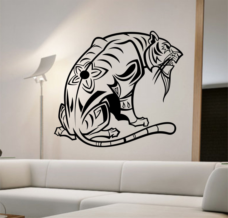 Https Www Etsy Com Listing 222217964 Tiger Wall Decal Sticker Art Decor