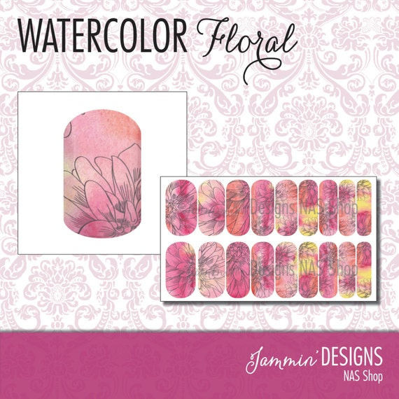 Watercolor Floral NAS (Nail Art Studio) Design