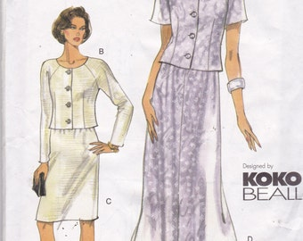 Vogue 7015 Vintage Pattern Womens Top and  Skirt in 2 Variations Size 8,10,12 UNCUT Koko Beall Design