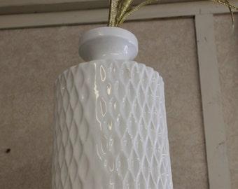 SOLD!!! Mid Century Modern White Ceramic Vase or Lamp Base