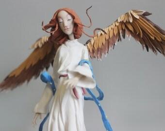 Large angel figurine,angel figurine,angel sculpture,ooak,doll,fantasy doll,toy