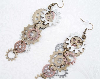 Cecily Speckworks Steampunk Earrings