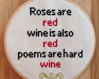 Wine Cross Stitch