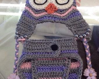 Baby Girl Owl Costume Set