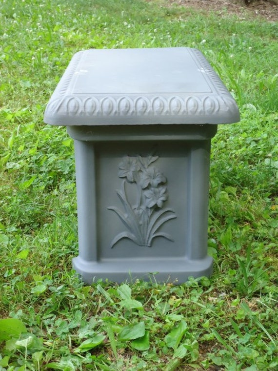 Items Similar To Concrete Bench Mold With Tiger Lilly Leg Mold On Etsy