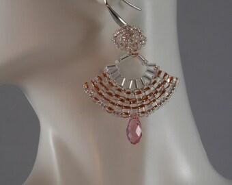 In the Pink Crystal Earrings