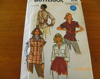 Vintage Quick! Butterick 6187 Sewing Pattern Misses' Top, Size 12