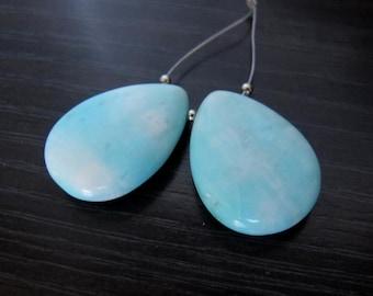 2 Blue Hemimorphite 17x25mm Earring Pendant Beads