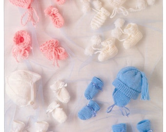 baby hats mittens and bootees dk knitting pattern 99p pdf
