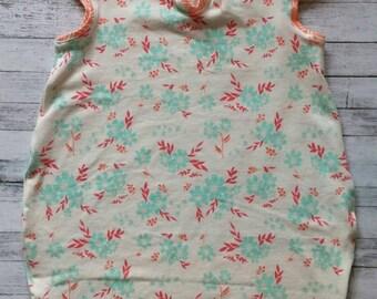 Coral & Mint Minimalist Dress 18-24m