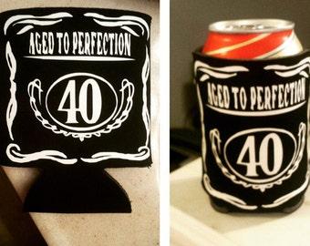 Jack Daniels Inspired Birthday Can Holders