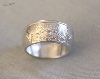 Canadian Silver Half Coin Ring