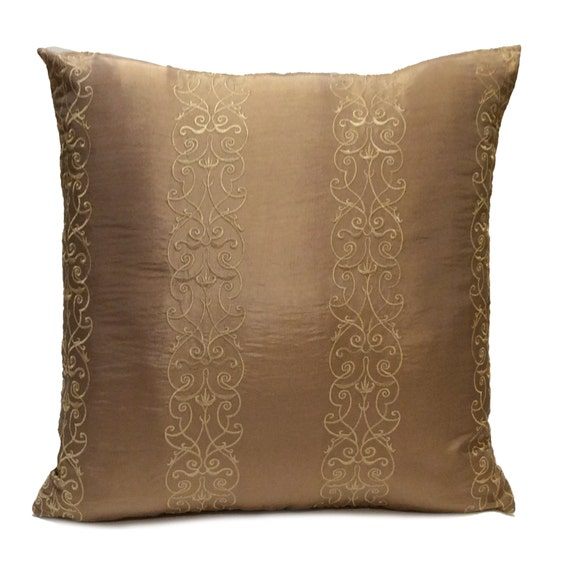 Light Brown Decorative Pillows : Light Brown Dark Tan Pillow Decorative Throw Pillow Cover