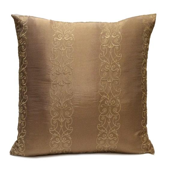 Light Brown Dark Tan Pillow Decorative Throw Pillow Cover