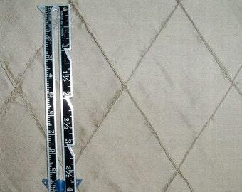 SILK LOOM EDINA Embroidered Diamond Harlequin Silk Fabric 10 Yards Taupe