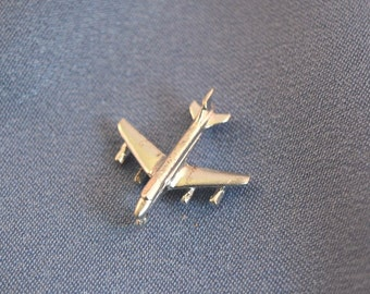 Boeing jet airplane sterling silver charm