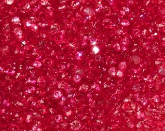 Synthetic pink fuchsia rhinestone 3mm (not drilled)