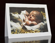 Immanuel - Blank Note Card & Envelope; Small Christmas Card; Christmas Note Card; Religious Note Card; Baby Jesus Note Card