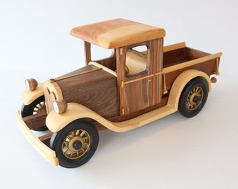 1928 Chevy Pick-up Truck Wood Model