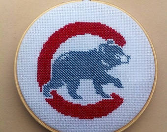 Chicago Cubs Cross Stitch Pattern Instant PDF download: Buy 2 Patterns Get 1 FREE!!