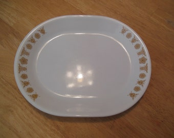 Corelle Butterfly Gold Serving Platter