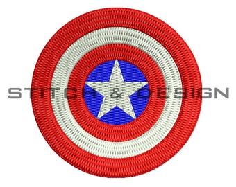 CAPTAIN AMERICA Embroidery Design Captain America Fill Design Captain America Design ~4 SIZES~ Instant Download D No:030
