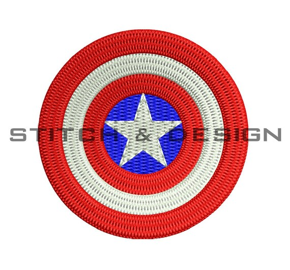 CAPTAIN AMERICA Embroidery Design Captain America By