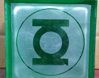green lantern glass block