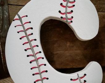 Baseball Wooden Letters