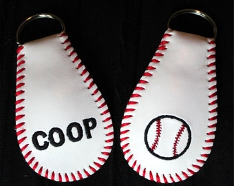 Baseball keychain or zipper pull made from a real baseball!!