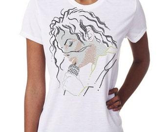 Michael Jackson Tee T-shirt Slim Fit Shirt Rhinestuds