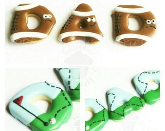 3 Dad Cookies, Dad Cookies, Sports Cookies, Custom Cookies, Football Cookies, Golf Cookies, Cookies, Decorated Cookies, Fathers Day Cookies