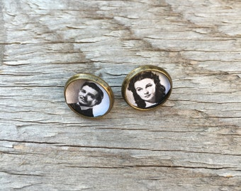 Gone With the Wind Brass Post Earrings
